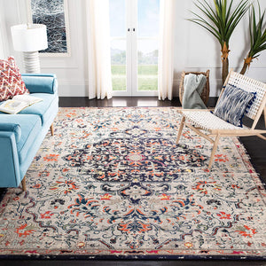 Boho Chic Vintage Medallion Distressed Soft Area Rug Beige/Black