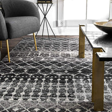Trellis Black Soft Area Rugs