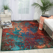 Modern Bohemian Atlantic Multicolored Area Rug,