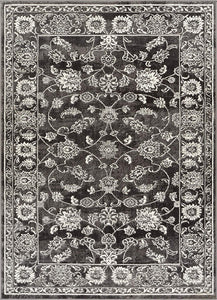 Modern Distressed Persian Design Grey Ivory Area Rug