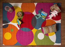 Vibrant Circle Area Rug Non-Slip/ No Skid