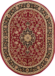 Medallion Red Traditional Soft Area Rug