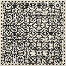 Handcrafted Geometric Black ivory Premium Wool Soft Area Rug