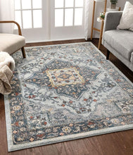 Medallion Vintage Boho Blue Area Rug