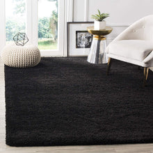 Black Soft Plush Shag Area Rug