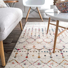 Trellis Light Multi Soft Area Rugs