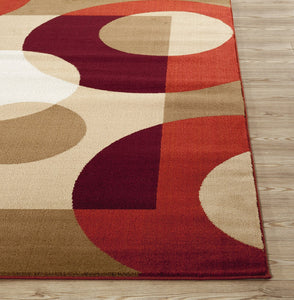 Multi-Color Modern Circles Soft Area Rug