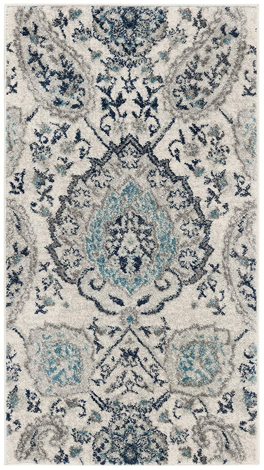 Floral Cream Light Grey Gray Area Rugs Modern Rugs And