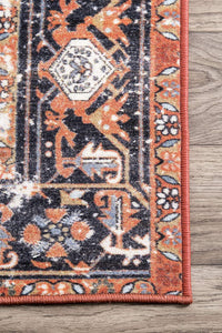 Florence Vintage Persian Area Rug, Rust