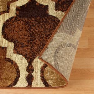 Modern Trellis Coffee Soft Area Rug