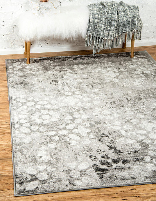 Vintage Gray/Grey Ivory Area Rug