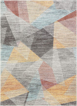 Laroy Soft Pastel Multi Color Triangle Boxes Squares Geometric Area Rug