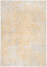 Oriental Shabby Chic Vintage Distressed Area Rug, Ivory/Gold