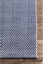 Kimberely Hand Loomed Area Rug, Navy