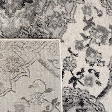 Floral Cream/ Silver Soft Area Rugs