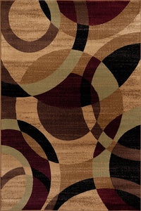 Multi-Color Circles Soft Area Rug