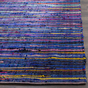 Hand Made Blue and Multi Area Rug