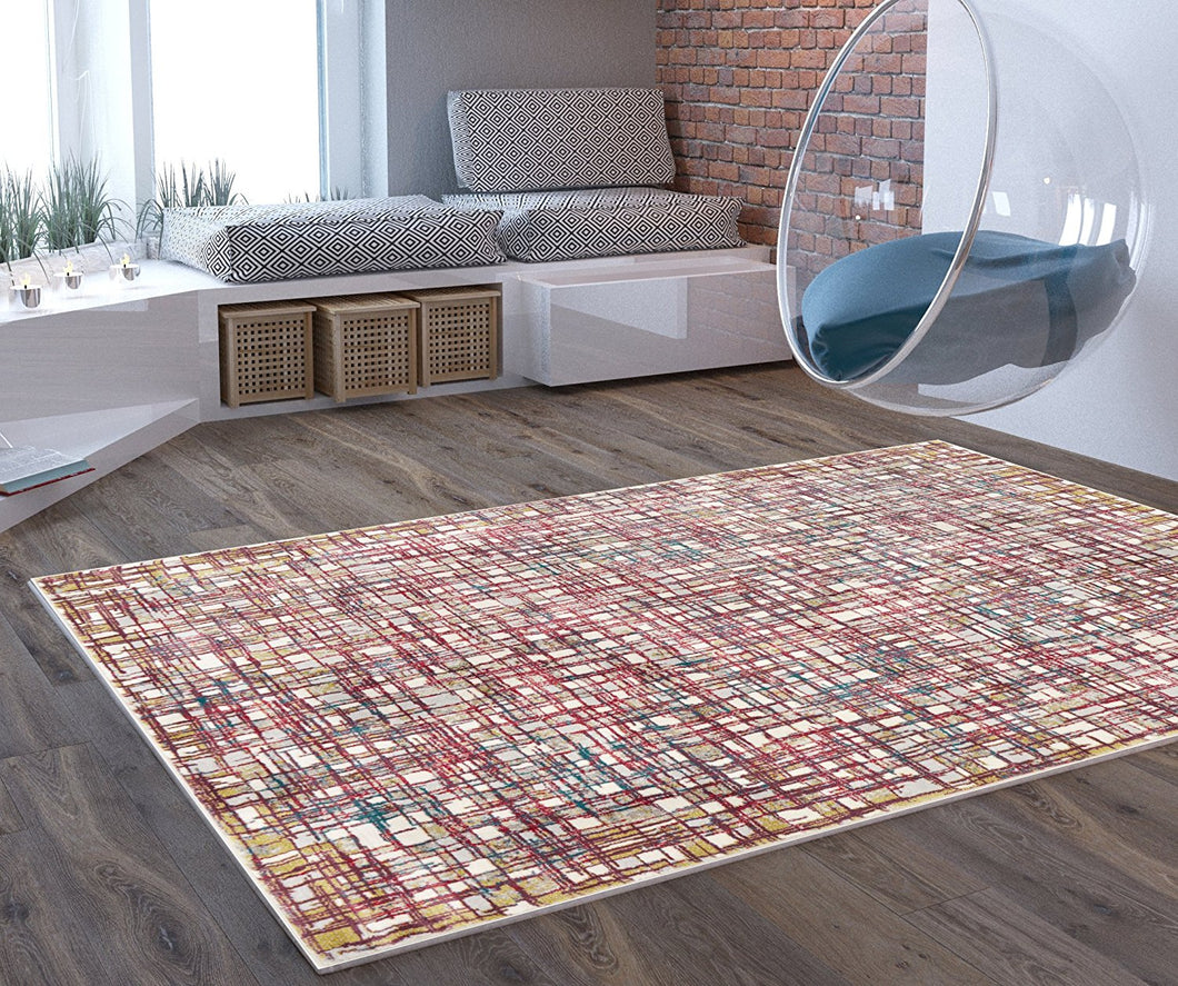 Transitional Multi Color Area Rug