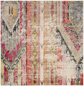 Distressed Light Grey Multi-color Soft Area Rug