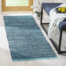 Hand Woven Blue and Multi Cotton Area Rug