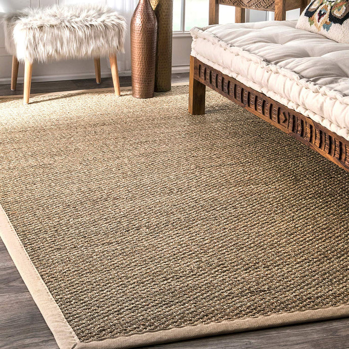 Premium Seagrass Natural Beige Area Rug