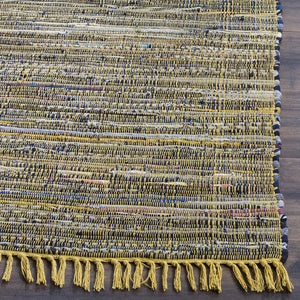 Hand Woven Yellow and Multi Cotton Runner