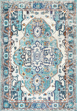 Corbett Vintage Boho Blue Soft Area Rugs - Multiple Sizes Available