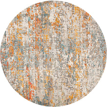 Modern Contemporary Abstract Area Rug, Grey/Blue