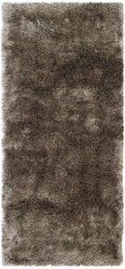 Premium Handmade Silken Sable Brown Plush Shag Area Rug