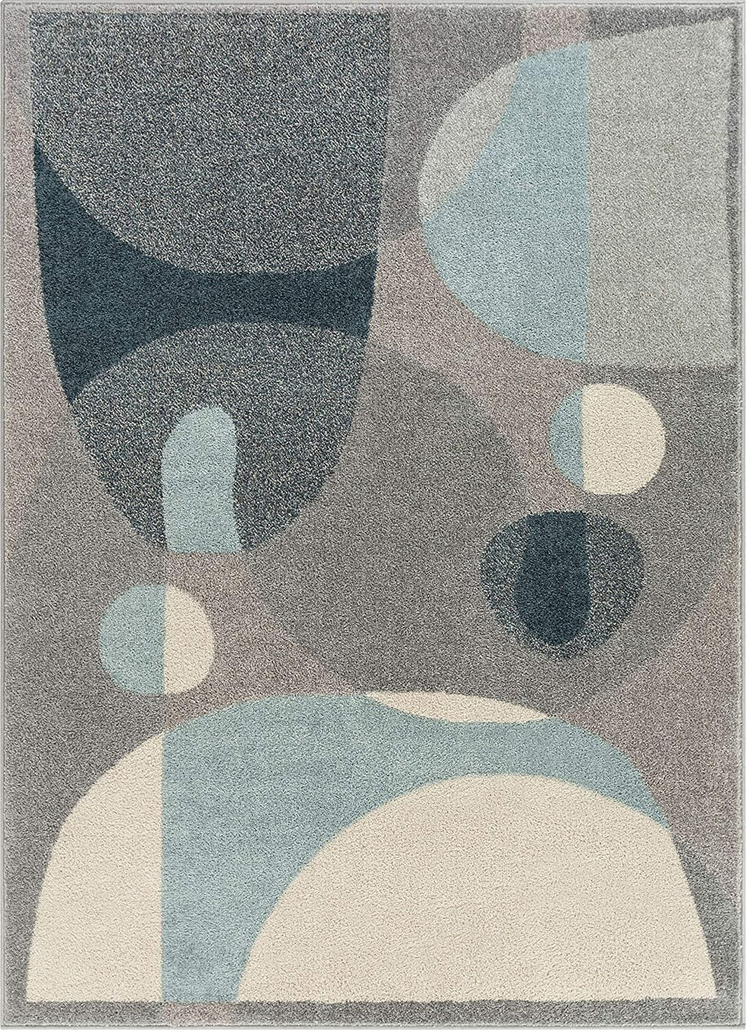 Modern Art Abstract Blue Grey Soft Area Rug