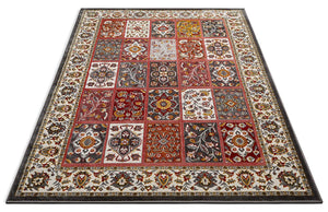 Modern Floral Panel Persian Design Multicolor Area Rug