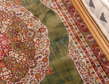 Vintage traditional Green Ivory Red Area Rugs