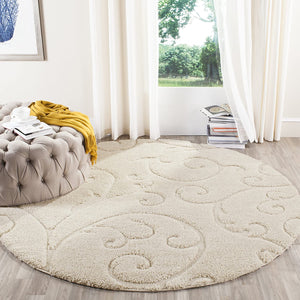 Premium Swirl Thick Plush Cream/Cream    Area Shag Rug