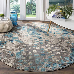 Abstract Grey Light Blue Soft Area Rug