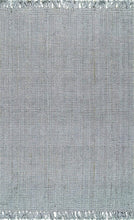 Chunky Loop Grey  Jute Rug - Multiple sizes available