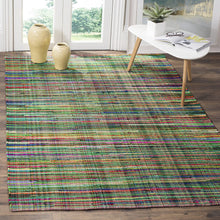 Hand Made Green and Multi Area Rug