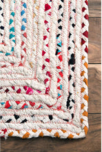 Hand Braided Ivory Multi-color Soft Area Rugs