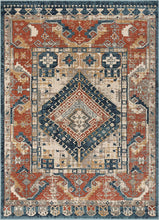 Rust Red Tribal Medallion Soft Area Rug