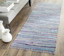 Hand Woven Purple and Multi Cotton Area Rug