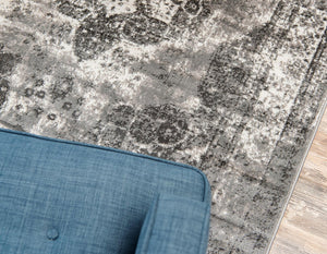 Vintage Gray/Grey Beige Area Rugs