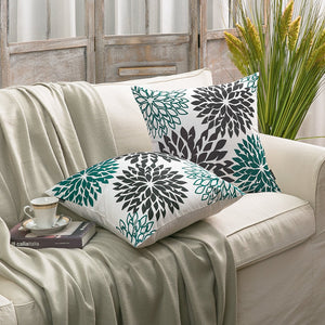 Decorative Dahlia Throw Pillow Cushion Cover
