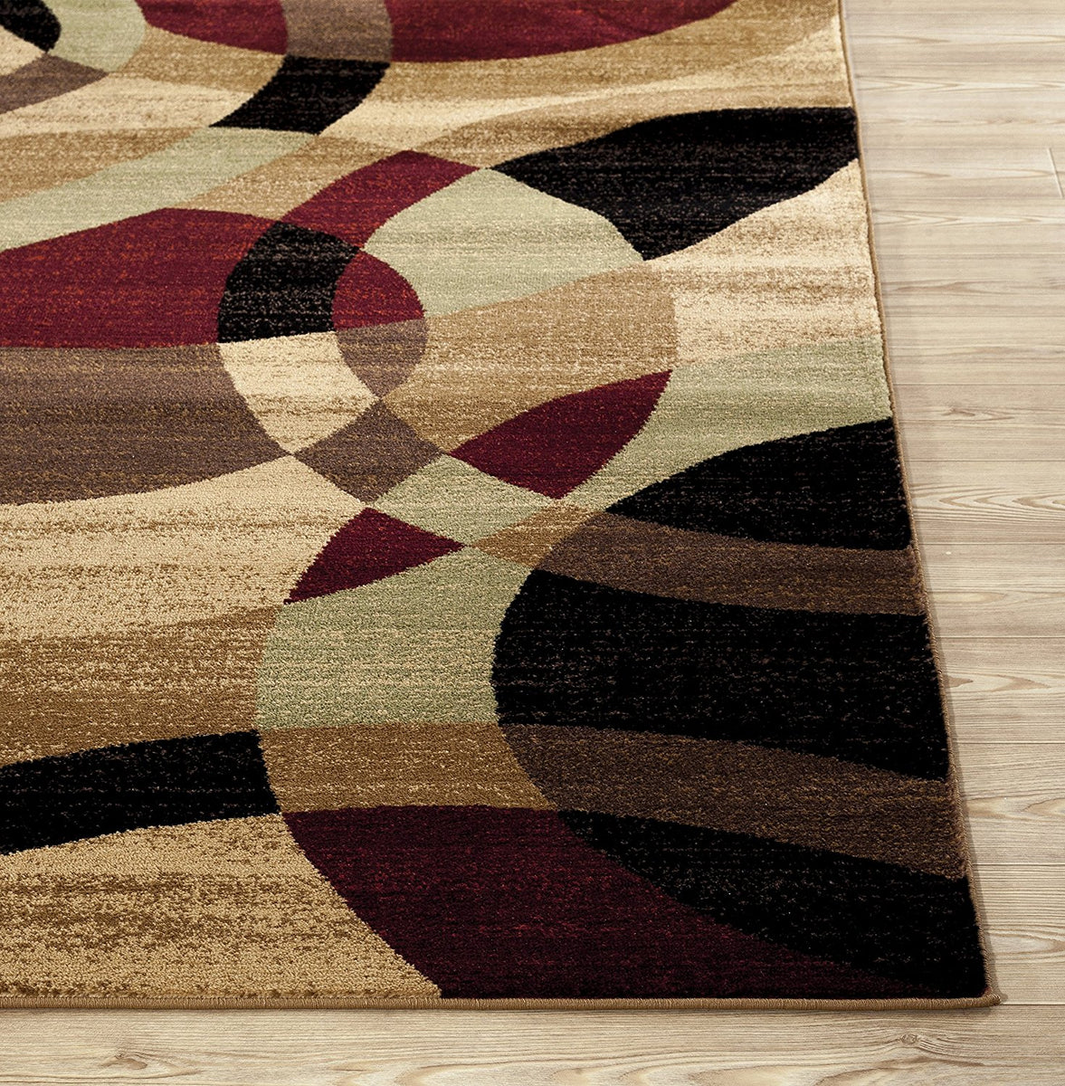 Multi Color Circles Soft Area Rug Modern Rugs And Decor