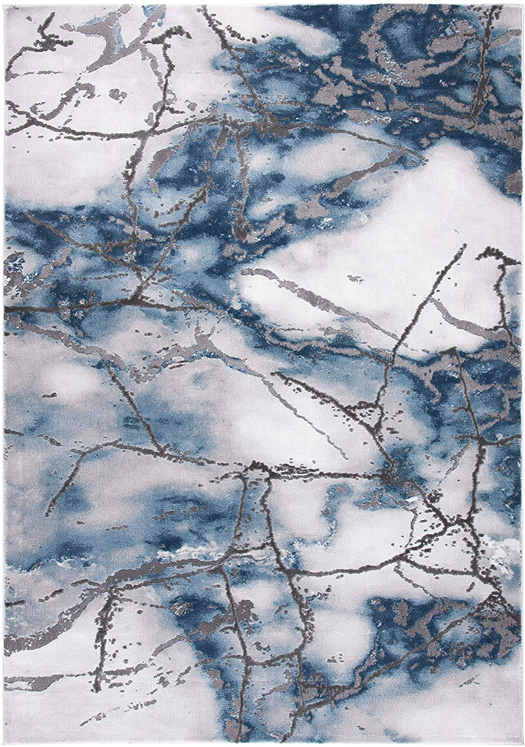 Collection CFT877L Area Rug, Grey/Blue