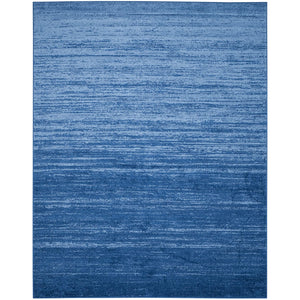 Ombre Blue/Dark Blue Soft Area Rug