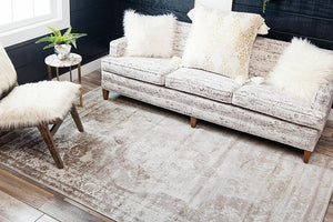 Vintage Distressed Beige Soft Area Rugs