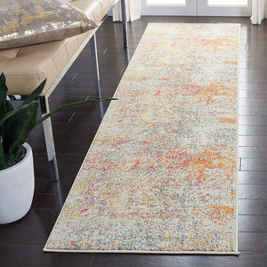 Modern Contemporary Abstract Area Rug,  Grey/Turquoise