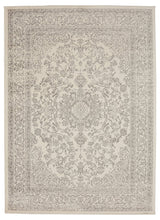Oriental Design Ivory/Grey/Gray Area Rugs and Runners