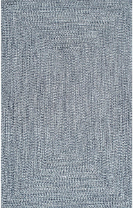 Braided Handmade Light Blue Indoor/Outdoor Soft Area Rug