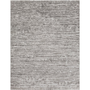 Contemporary Gray Stripes Area Rug