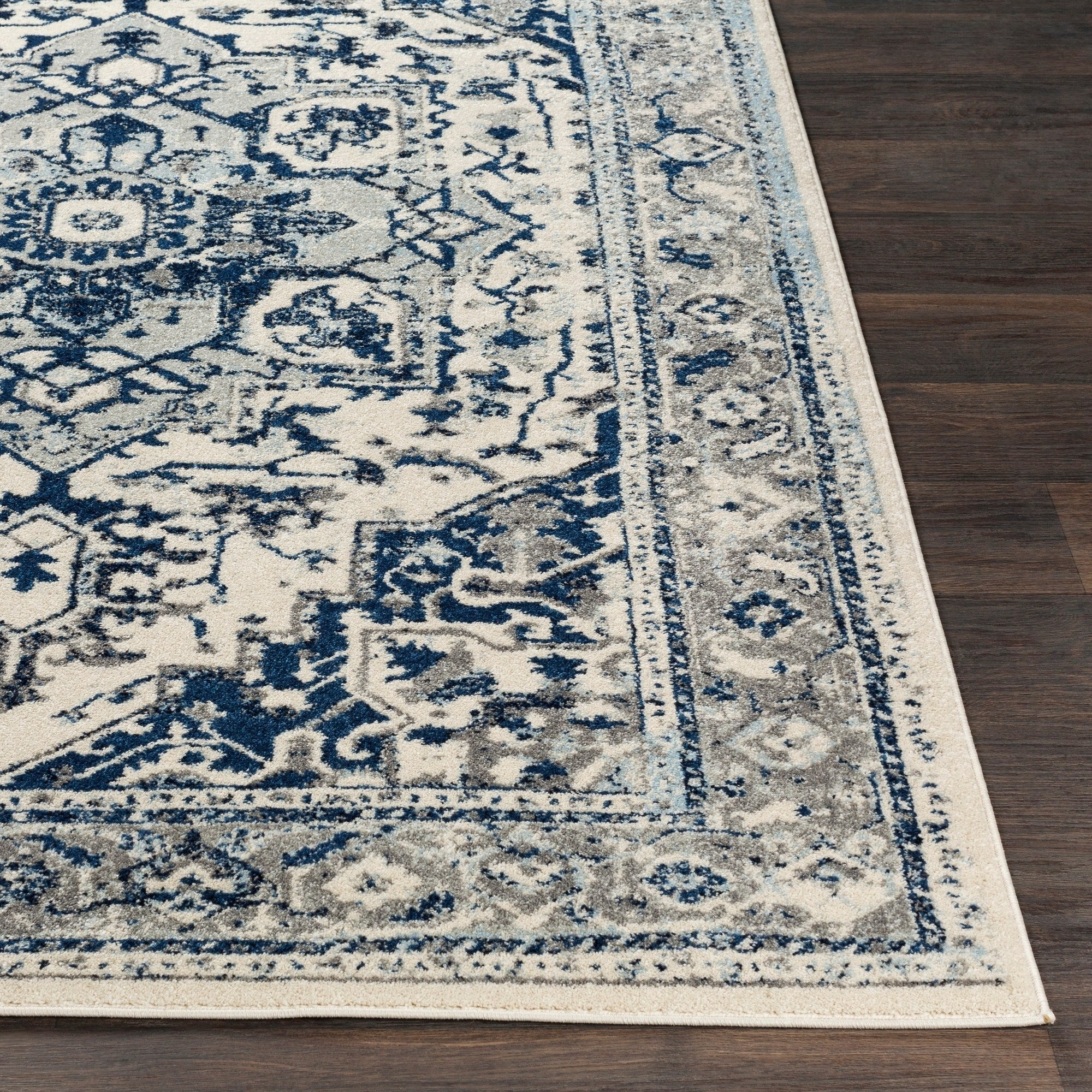 Traditional Navy Pale Blue Gray White Area Rugs Modern Rugs And